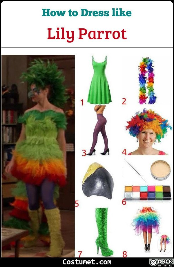 Lily Parrot Costume for Cosplay & Halloween