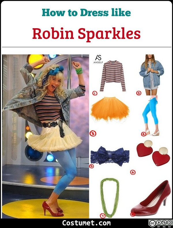 Robin Sparkles Costume for Cosplay & Halloween