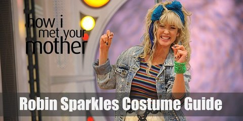 A Robin Sparkles costume consists of a lot of frills, bows, and big sparkles