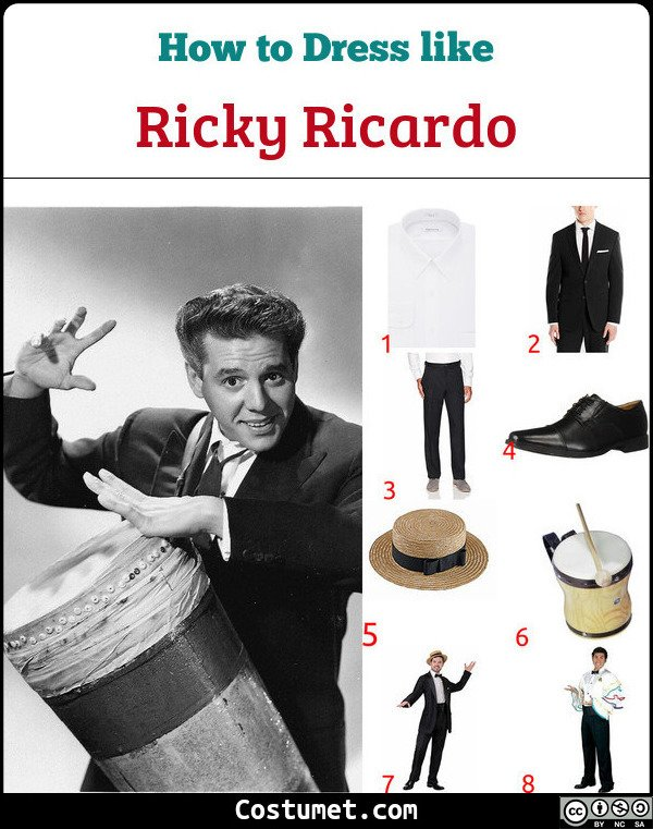 Ricky Ricardo Costume for Cosplay & Halloween