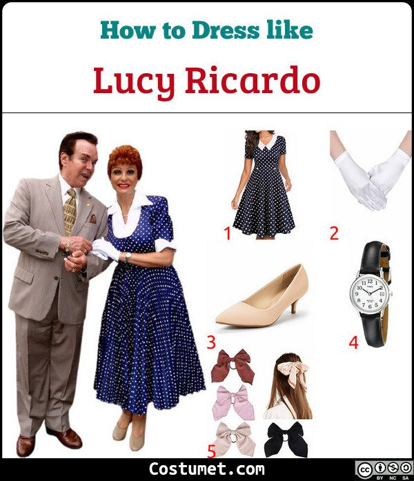 Lucy Ricardo Costume for Cosplay & Halloween