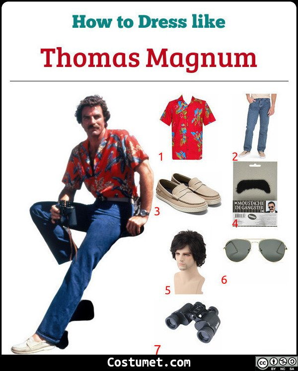 Magnum Pi Costume for Cosplay & Halloween