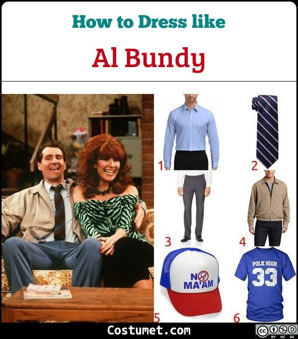 Al Bundy Married With Children Costume for Cosplay & Halloween