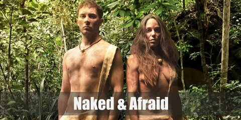 Naked and Afraid's costume is a pair of nude shorts, a nude bralette, and a canvas shoulder bag. Can you survive, naked and afraid, in the middle of nowhere for 21 days?