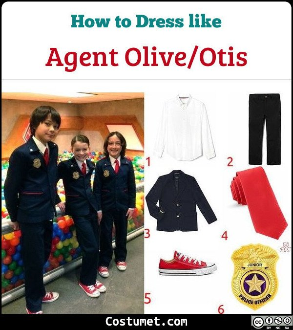 Agent Olive and Agent Otis Odd Squad Costume for Cosplay & Halloween