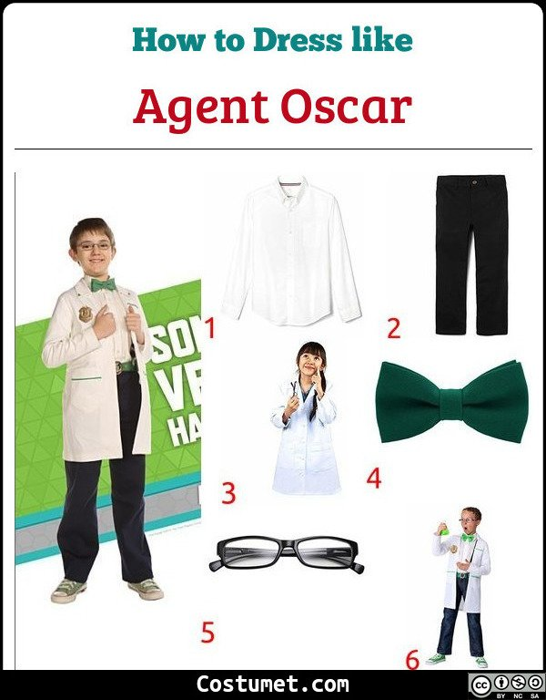 Agent Oscar Odd Squad Costume for Cosplay & Halloween