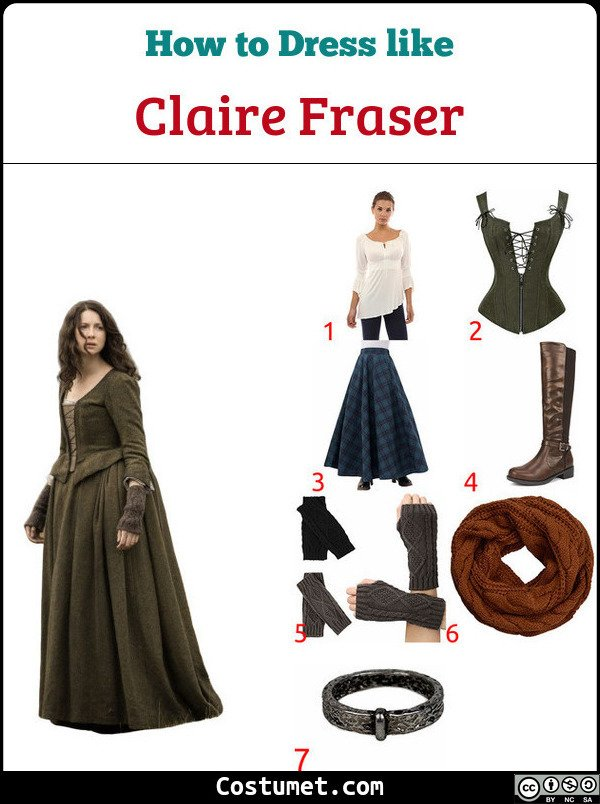 Claire Fraser Costume for Cosplay & Halloween