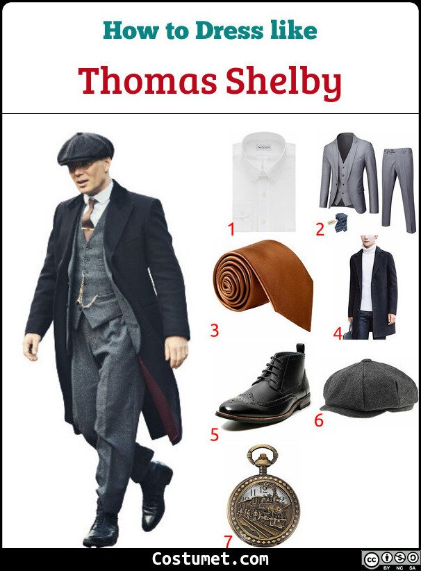 Thomas Shelby Costume for Cosplay & Halloween