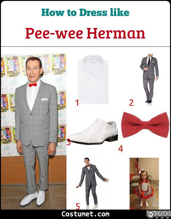 Pee Wee Herman Costume for Cosplay & Halloween