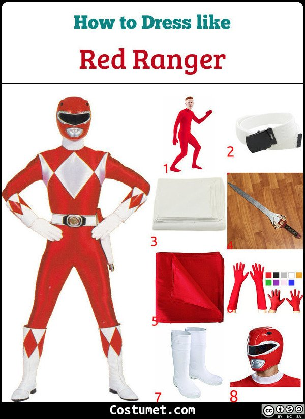Red Ranger Costume for Cosplay & Halloween