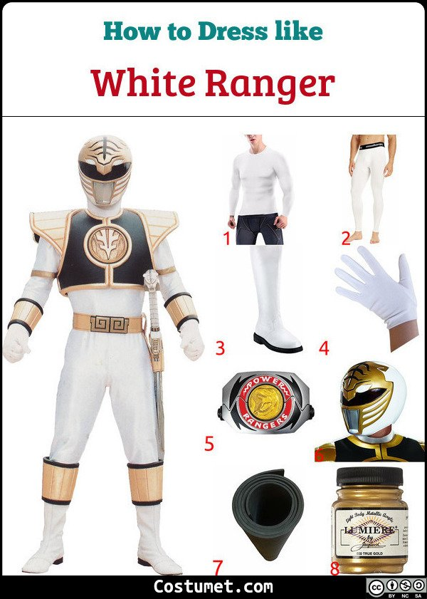 White Ranger Costume for Cosplay & Halloween