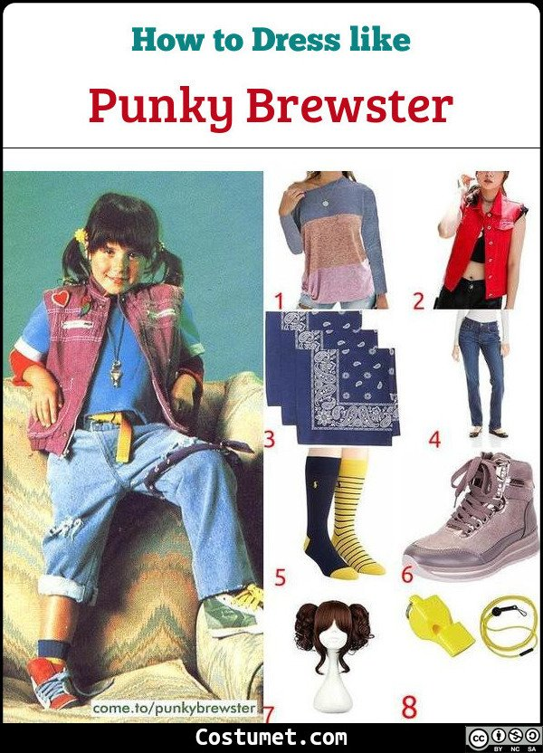 Punky Brewster Costume for Cosplay & Halloween