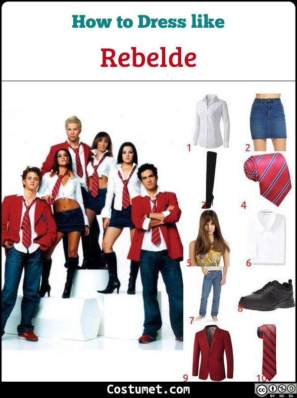 Rebelde Costume for Cosplay & Halloween