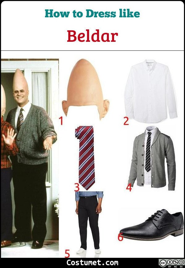 Beldar Coneheads Costume for Cosplay & Halloween