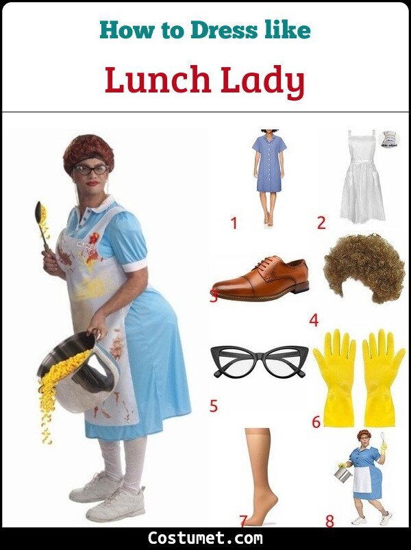 Lunch Lady Costume for Cosplay & Halloween