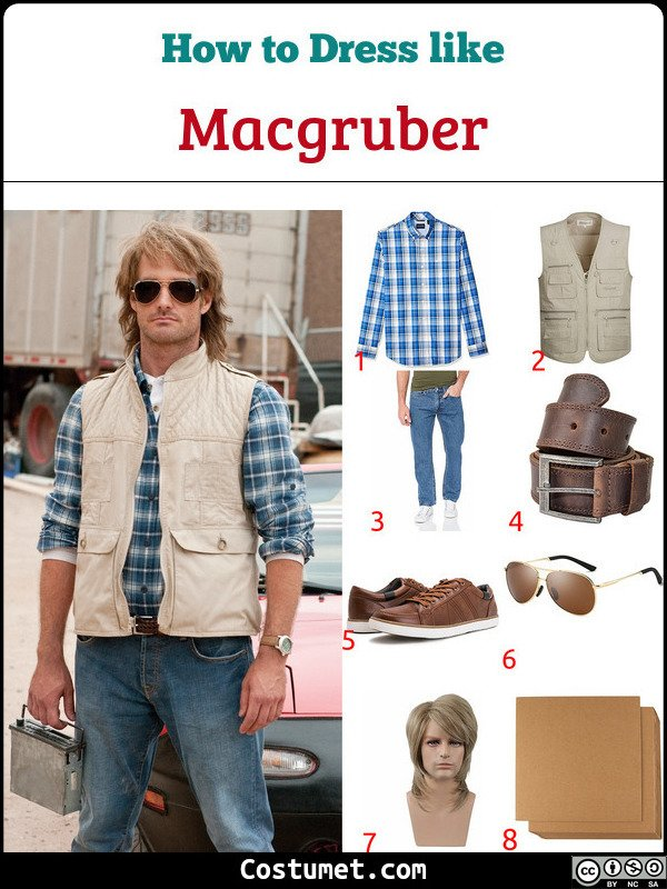 Macgruber Costume for Cosplay & Halloween
