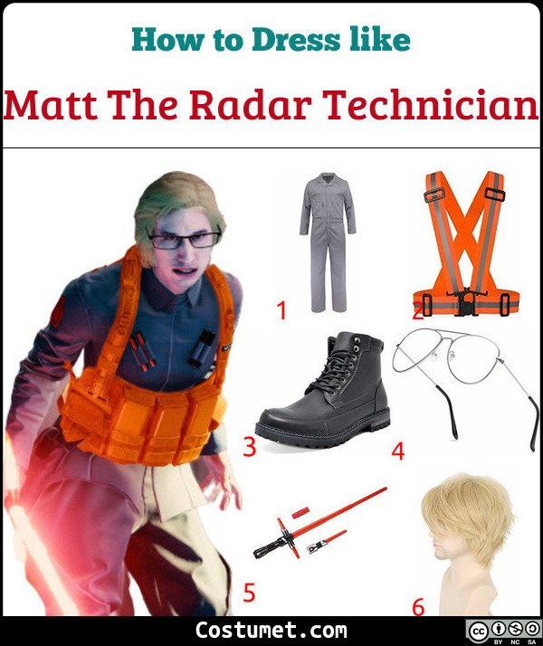 Matt The Radar Technician Costume for Cosplay & Halloween