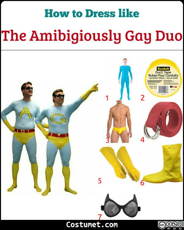 The Amibigiously Gay Duo Costume for Cosplay & Halloween