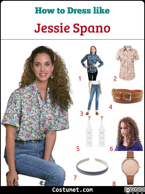 Jessie Spano Costume for Cosplay & Halloween