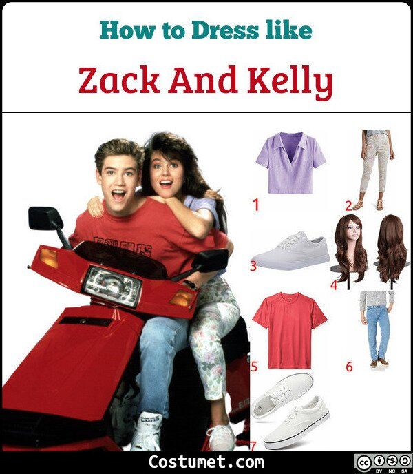 Zack And Kelly Costume for Cosplay & Halloween