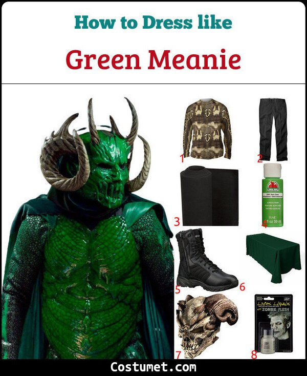 Green Meanie Costume for Cosplay & Halloween