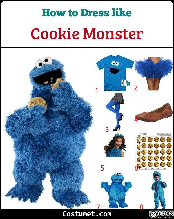Cookie Monster Costume for Cosplay & Halloween