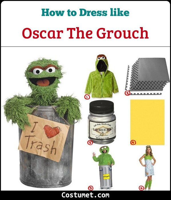 Oscar The Grouch Cosplay & Costume Guide