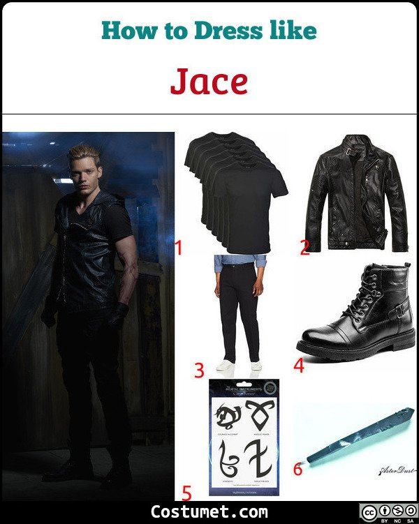 Jace Shadowhunters Costume for Cosplay & Halloween