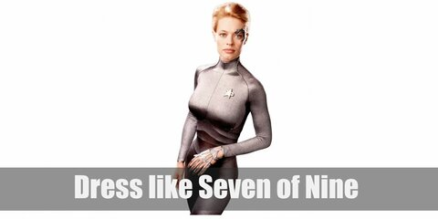 Seven of Nine appears to have become a strong woman (and that's not because of the 13 years she spent as a Borg drone). Seven of Nine's outfit changes periodically throughout the series. One of her more famous ones is the skintight red uniform she wears.