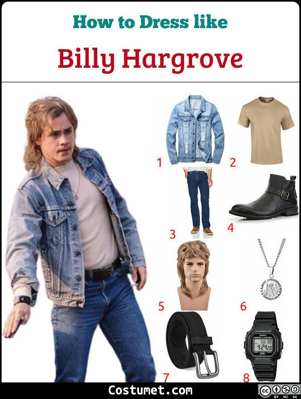 Billy Hargrove Costume for Cosplay & Halloween