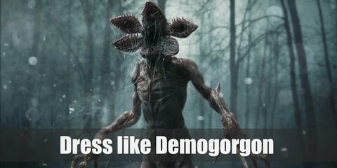 The Demogorgon looks beastly and has no visible face. Its whole head is its mouth and it opens like flower petals when it attacks or feeds.