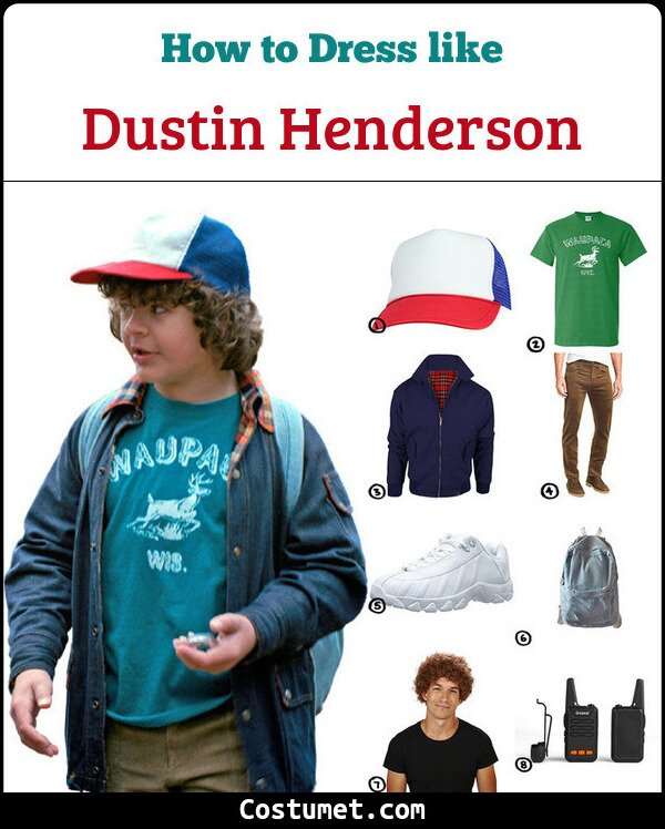 Dustin Henderson Costume for Cosplay & Halloween