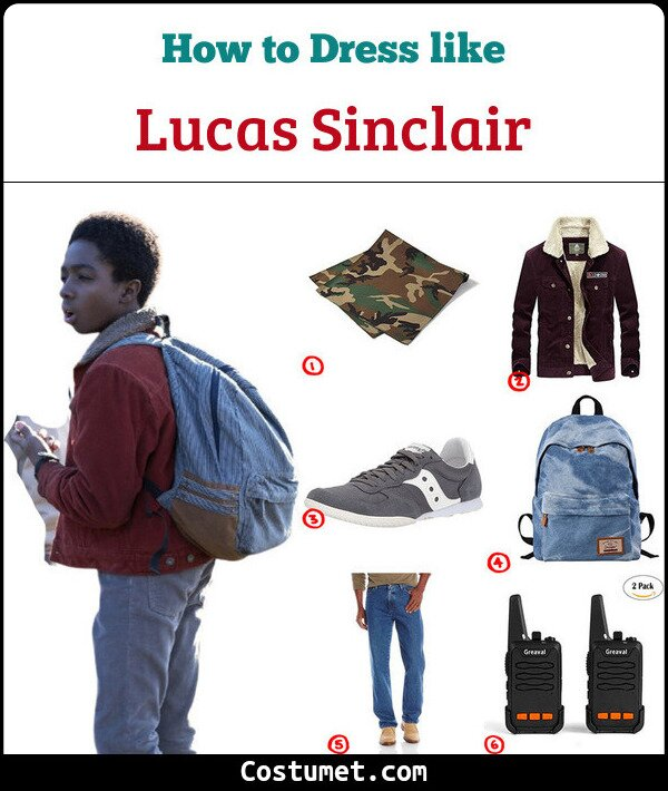 Lucas Sinclair Costume for Cosplay & Halloween