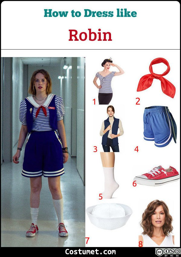 Robin Scoops Ahoy Costume for Cosplay & Halloween