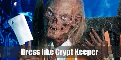 The Crypt Keeper does dress up well. For this outfit, he'll be wearing the black suit he donned on for the red carpet.