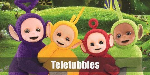 Dressing up as a teletubby is a fun way to get a blast from the past! And it's super easy! All you need is to dress up in your fave teletubby's color, have a headband with their respective antenna on it, and aluminum foil