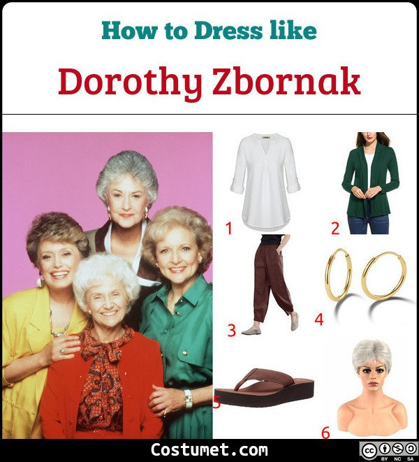 Dorothy Zbornak The Golden Girls Costume for Cosplay & Halloween