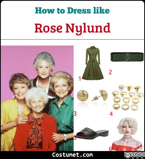 Rose Nylund The Golden Girls Costume for Cosplay & Halloween