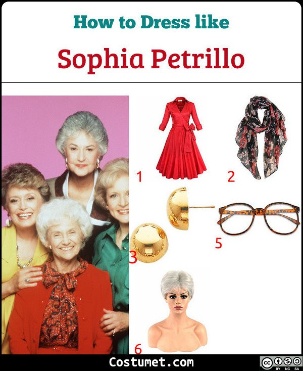 Sophia Petrillo The Golden Girls Costume for Cosplay & Halloween