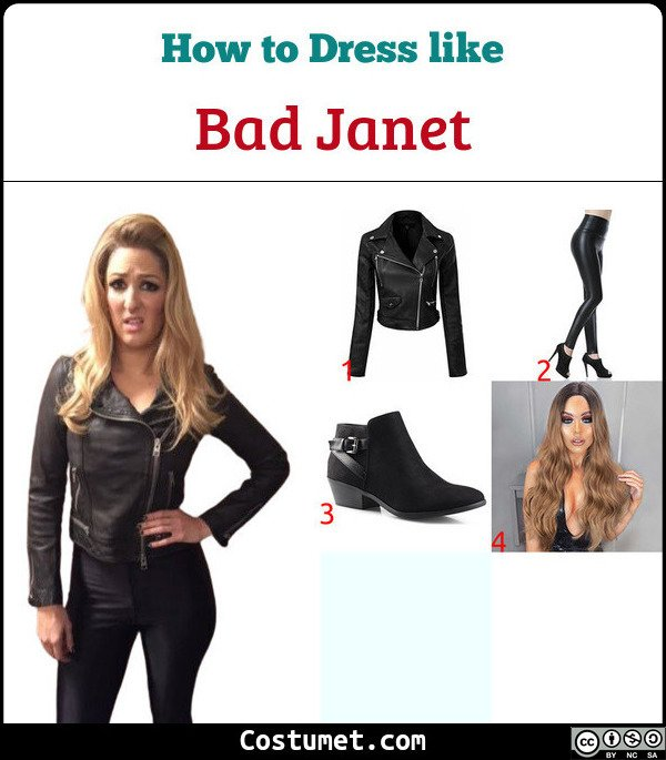 Bad Janet Costume for Cosplay & Halloween