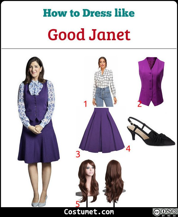 Good Janet Costume for Cosplay & Halloween