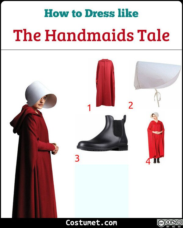 The Handmaids Tale Costume for Cosplay & Halloween