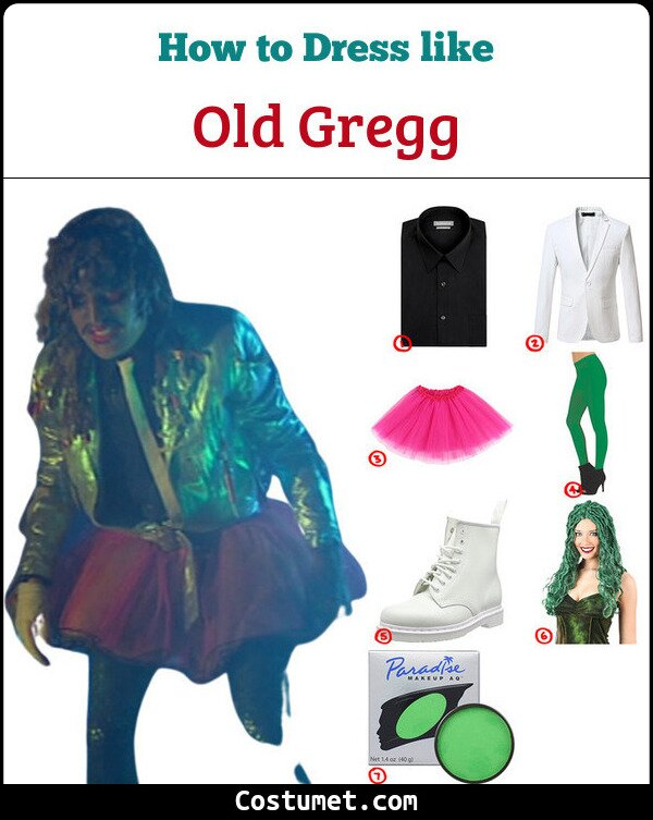 Old Gregg Cosplay & Costume Guide
