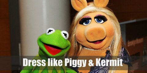 Miss Piggy & Kermit the Frog (The Muppets) Costume