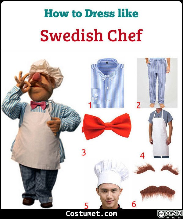 Swedish Chef Costume for Cosplay & Halloween
