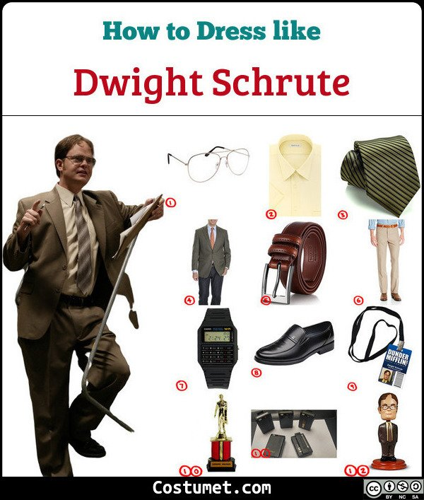 Dwight Schrute Costume for Cosplay & Halloween