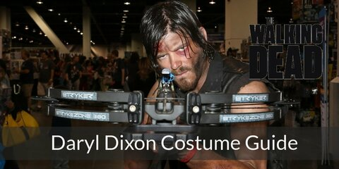 Daryl Dixon has three layers of tops, loose cargo pants, great combat boots and his awesome hunting crossbow gun