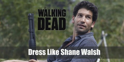 Shane Walsh has bit like devil may care personality to his outfit. He has on a flannel shirt with a few buttons left open, cargo pants and trusty combat boots
