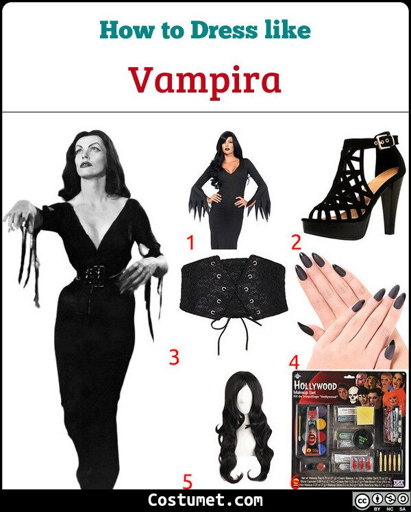 Vampira Costume for Cosplay & Halloween