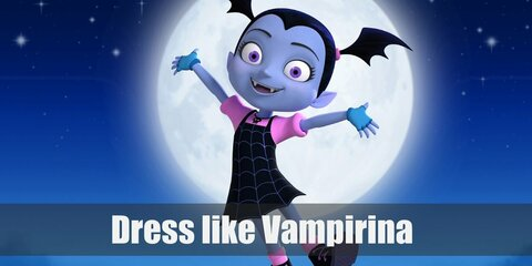 Vampirina outfit is also just a little on the spooky side of the spectrum, but you really can't say it's cute.